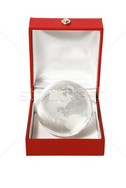 glass globe in jewelry box Stock photo © restyler