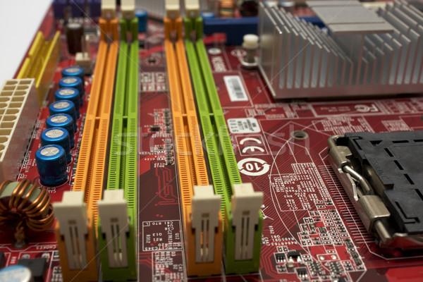 Számítógép bent alaplap emlékek üzlet technológia Stock fotó © restyler