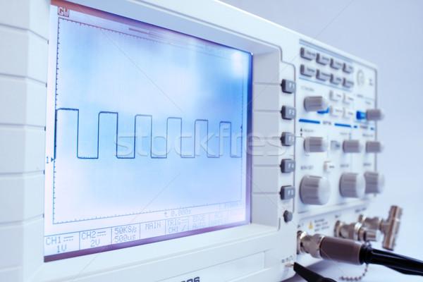 Digital oscillograph Stock photo © restyler