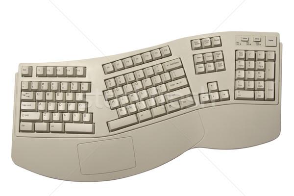 ergonomic computer keyboard Stock photo © restyler