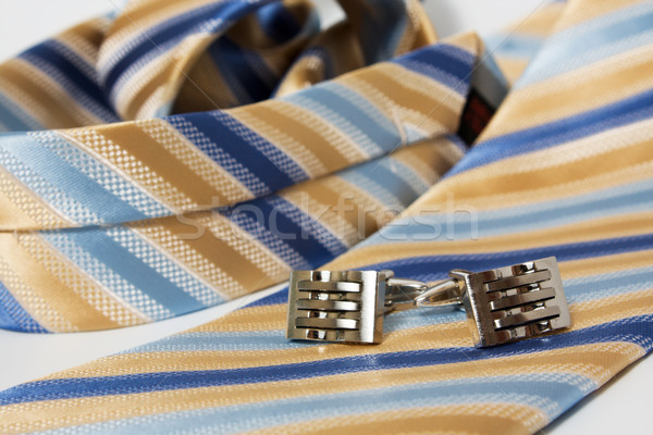 Tie, belt and cufflinks Stock photo © restyler