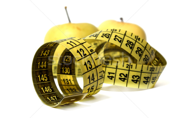 Apples with measure tape Stock photo © restyler