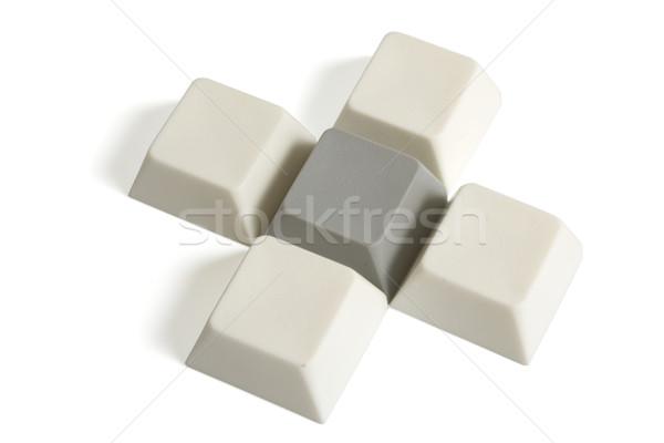 Atravessar computador botões isolado branco internet Foto stock © restyler