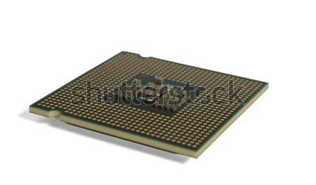 Foto stock: CPU · aislado · blanco · enchufe · tecnología · cerebro