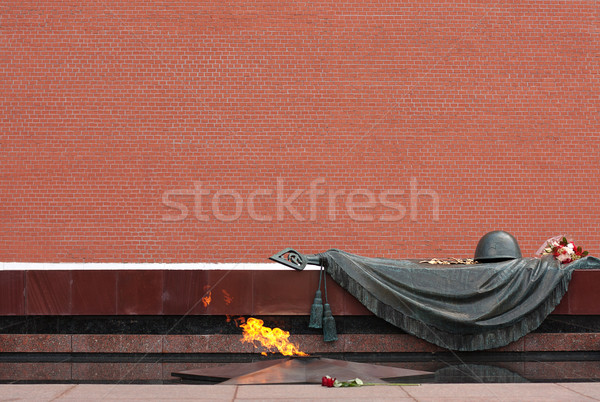 Москва пламени могилы неизвестный солдата цветок Сток-фото © restyler