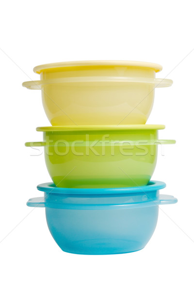plastic food containers like tupperware Stock photo © restyler