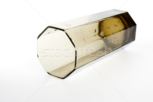 Boş cam kahverengi damla şarap ışık Stok fotoğraf © restyler