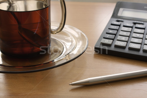 Calculations for a cup of tea Stock photo © restyler