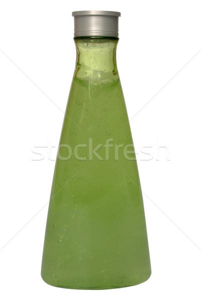 Groene fles transparant gel witte schoonmaken Stockfoto © restyler