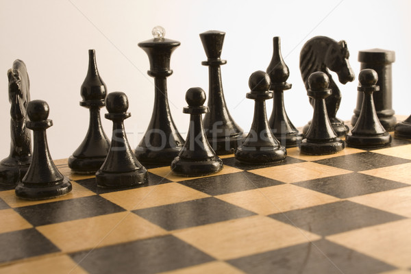 Black chess Stock photo © restyler