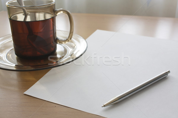 Writing for a cup of tea Stock photo © restyler