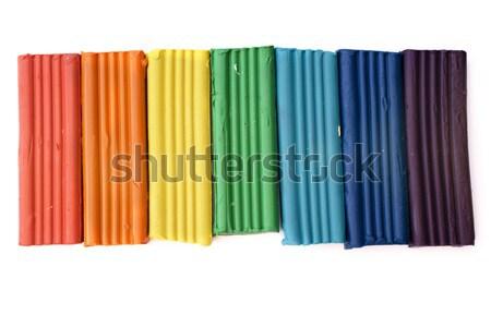 Gökkuşağı renk renkler yalıtılmış beyaz sanat Stok fotoğraf © restyler