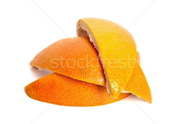 Schil citrus grapefruit geïsoleerd witte voedsel Stockfoto © restyler