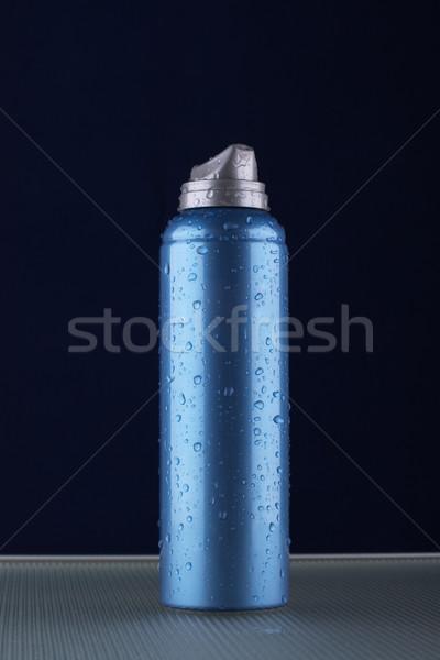 Espuma aerossol escuro azul gotas água Foto stock © restyler