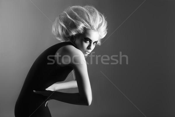 Woman with Futuristic Hairdo Stock photo © restyler