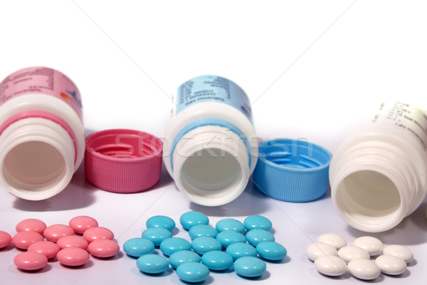 Multi-coloured tablets Stock photo © restyler