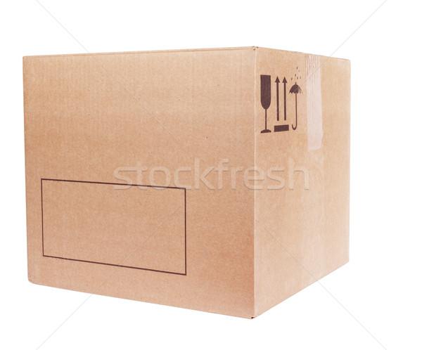 Kutu yalıtılmış beyaz kâğıt grup renk Stok fotoğraf © restyler