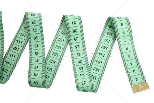 Centymetrem zielone odizolowany biały tle narzędzie Zdjęcia stock © restyler