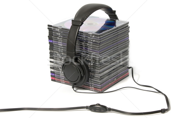 headphone and cd collection Stock photo © restyler