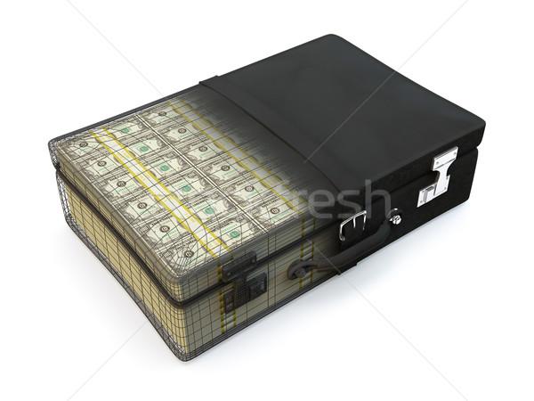 Pasta completo dinheiro mala americano Foto stock © reticent
