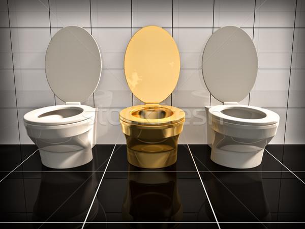 WC elite oro ufficio stanza bagno Foto d'archivio © reticent