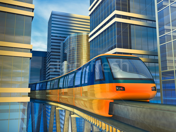 monorail train Stock photo © reticent