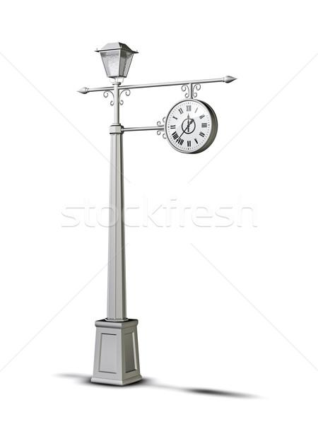 Vieux horloge 3d illustration antique blanche objet Photo stock © reticent
