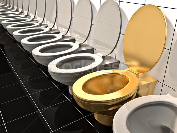 Toilettes élite or bureau chambre salle de bain Photo stock © reticent