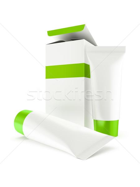 Boîte deux cosmétiques 3d illustration blanche Photo stock © reticent