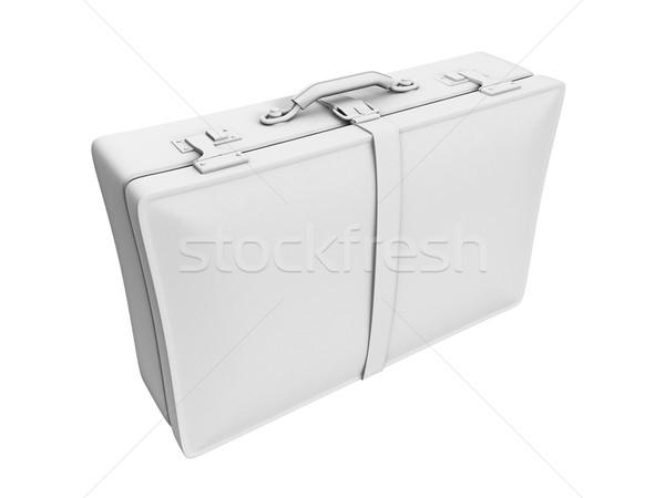 Affaires valise 3d illustration isolé blanche serviette Photo stock © reticent