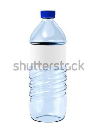 Bottiglia d'acqua etichetta bianco bere bottiglia clean Foto d'archivio © reticent