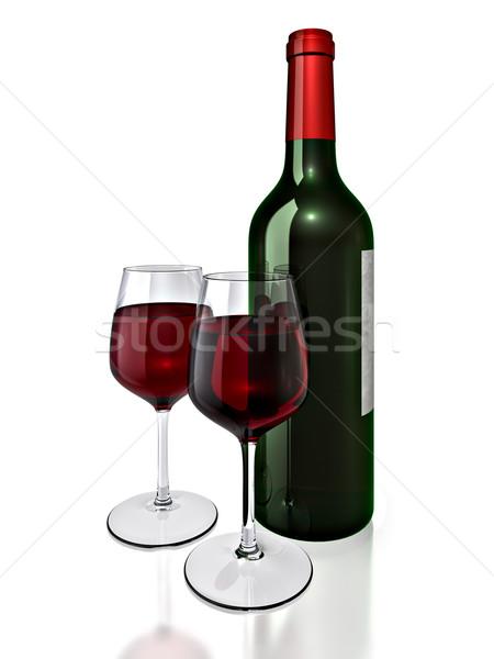 Bouteille de vin bouteille rouge alcool vacances liquide Photo stock © reticent