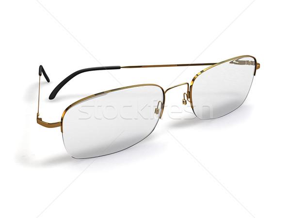 Lunettes 3d illustration blanche yeux médicaux verre Photo stock © reticent