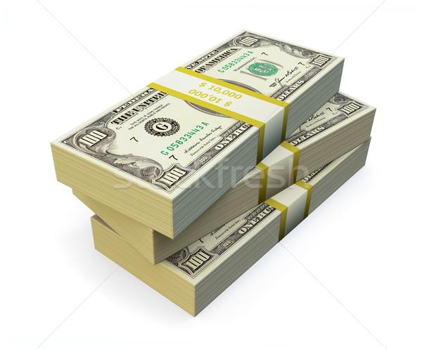 100 branco financiar Foto stock © reticent