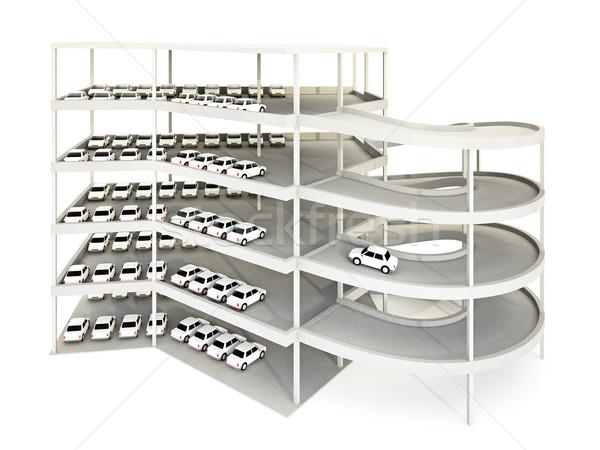 Estacionamento garagem ilustração 3d carro edifício concreto Foto stock © reticent