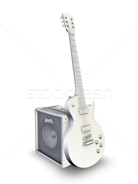 Chitarra elettrica chitarra speaker rock elettrici audio Foto d'archivio © reticent