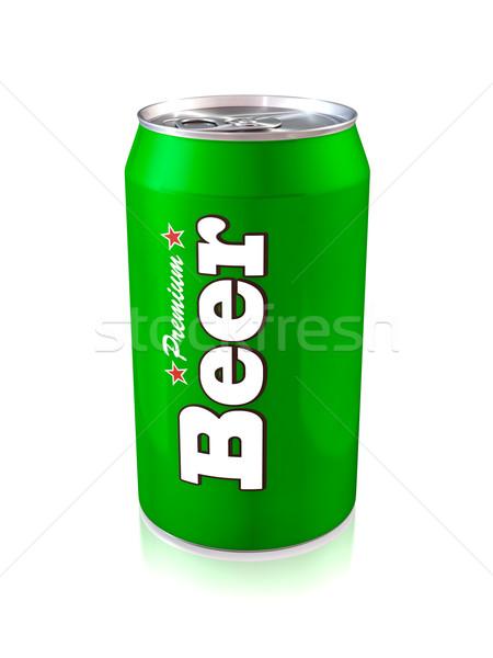Bière peuvent 3d illustration une vert boire Photo stock © reticent