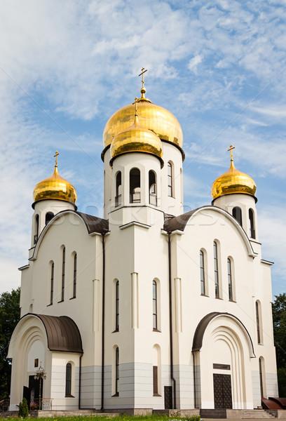 Ortodoxo iglesia ruso blanco cielo azul cielo Foto stock © reticent