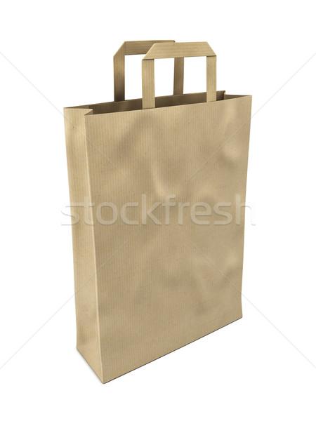 Papel pardo saco branco pacote comprar cartão Foto stock © reticent