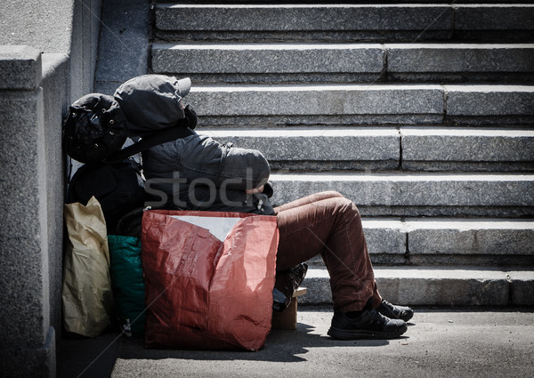 Homeless man Stock photo © reticent