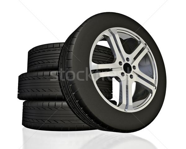 Rodas carro tecnologia roda transporte novo Foto stock © reticent