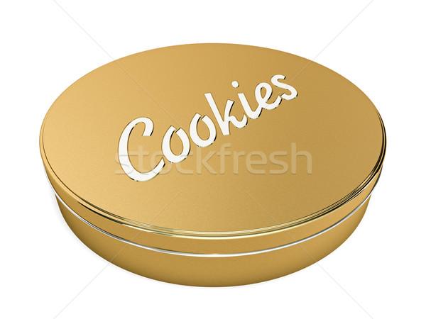 Cookies finestra isolato bianco dessert Foto d'archivio © reticent