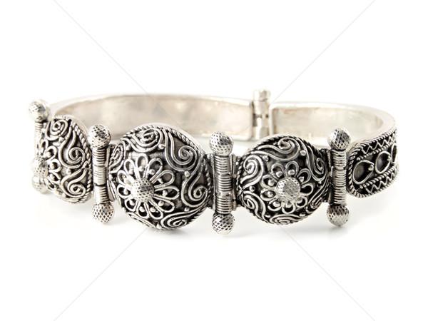 серебро браслет старые красоту подарок Сток-фото © reticent