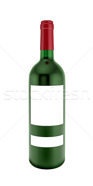 Bouteille vin rouge blanche verre rouge alcool Photo stock © reticent