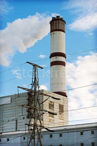 Usina velho Moscou cidade tecnologia urbano Foto stock © reticent
