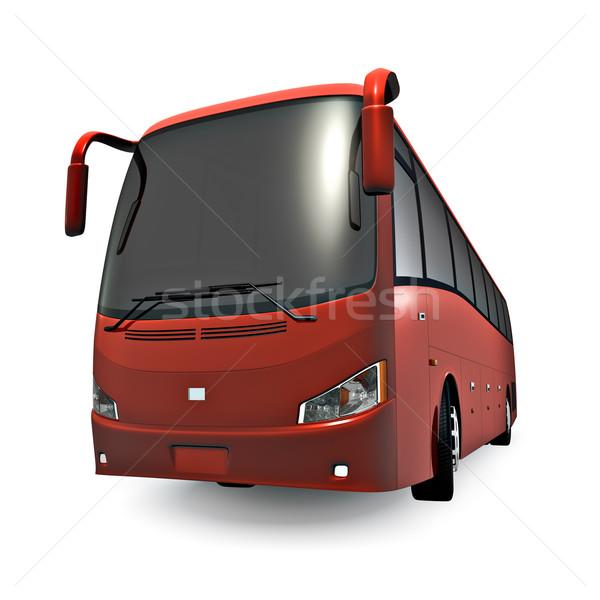 Rosso coach 3D tour bus isolato Foto d'archivio © reticent