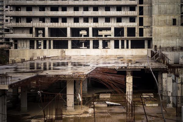 заброшенный строительство здании отсутствие темно архитектура Сток-фото © reticent