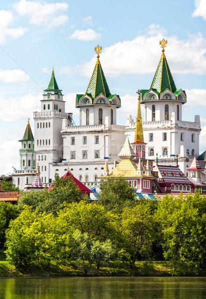 Kremlin fragment moderne gestileerde oude russisch Stockfoto © reticent