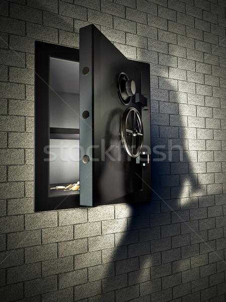 Noche robo escena segura bloqueo acero Foto stock © reticent