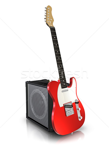 Electric guitar and amplifier. Stock photo © reticent